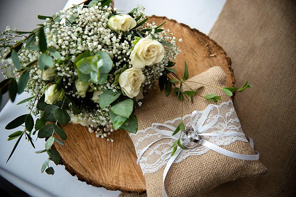 beautiful wedding flowers - ring pillow