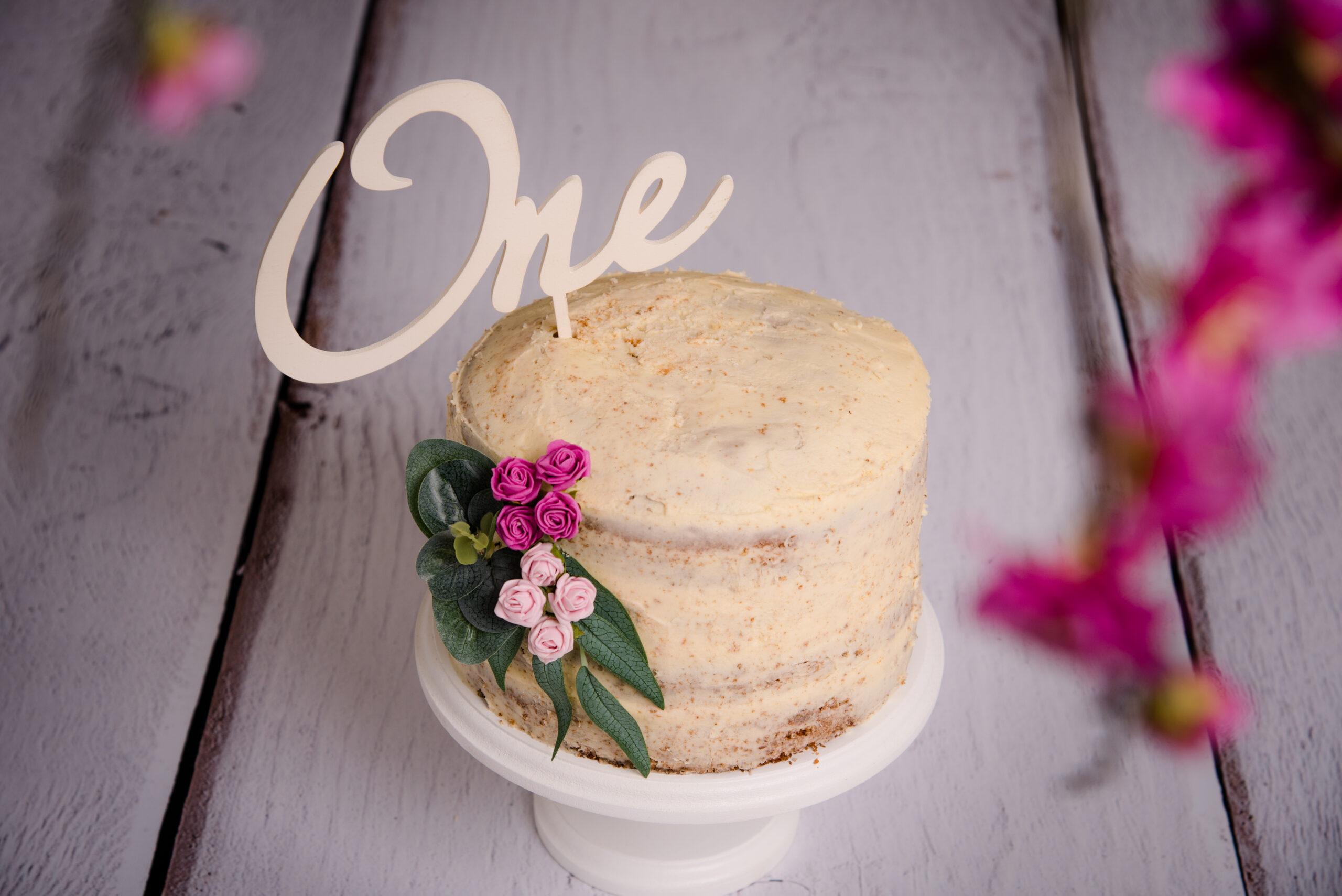 cake ready for a cake smash