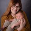 proud mummy with her newborn baby son