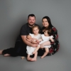 FAMILY OF 5 FOR A NEWBORN SESSION AT RACHAEL PHILLIPS PHOTOGRAPHY IN MANSFIELD