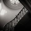 bride walking down staircase